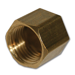 "Picture of 1/4"" BRASS COMPRESSION NUT"