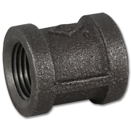 "Picture of 1/2"" COUPLING - BLACK PIPE"