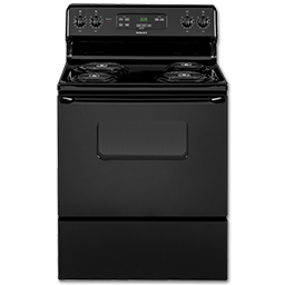 "Picture of HOTPOINT 30"" ELECTRIC RANGE - BLACK - RB526DHBB"