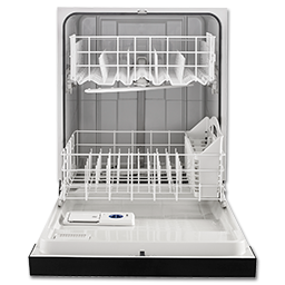 "WHIRLPOOL® 24"" DISHWASHER- STAINLESS STEEL"
