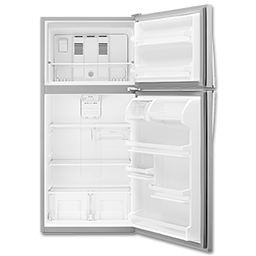 WHIRLPOOL® 18.2 CU FT TOP MOUNT REFRIGERATOR - STAINLESS STEEL