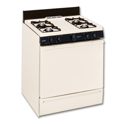 "Picture of HOTPOINT® 30"" GAS RANGE, PILOTLESS IGNITION, LP KIT - BISQUE"