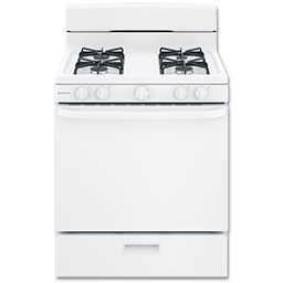 "Picture of HOTPOINT® 30"" GAS RANGE, PILOTLESS IGNITION, LP KIT - WHITE"