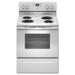"Picture of WHIRLPOOL® 30"" SELF-CLEAN RANGE  - WHITE"
