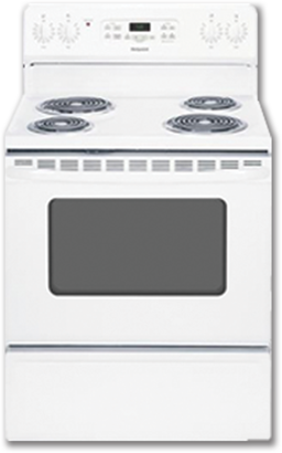 "Picture of HOTPOINT® 30"" ELECTRIC SELF-CLEAN RANGE - WHITE"