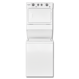 """Picture of WHIRLPOOL® 27"""" STACK ELECTRIC WASHER & DRYER - WHITE"""