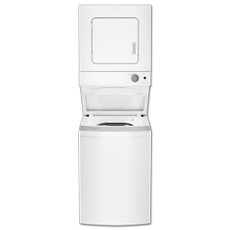 "Picture of WHIRLPOOL 24"" STACK WASHER/DRYER - WHITE - LTE5243DQ/WET4024EW"