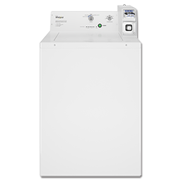 Picture of WHIRLPOOL® EXTRA LARGE CAPACITY COMMERCIAL WASHER, COIN OPERATED - WHITE