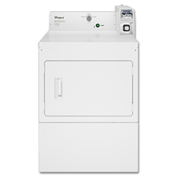 Picture of WHIRLPOOL® LARGE CAPACITY COMMERCIAL ELECTRIC DRYER, COIN OPERATED - WHITE