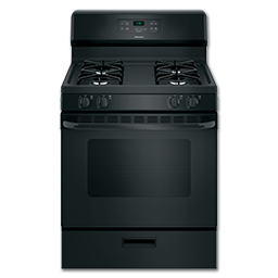 """Picture of HOTPOINT® 30"""" GAS RANGE, ELECTRONIC IGNITION - BLACK"""