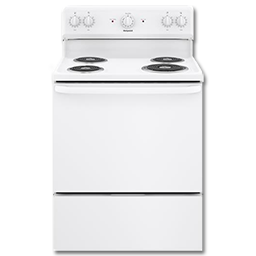 "Picture of HOTPOINT 30"" ELECTRIC RANGE - WHITE - RB525DHWW"