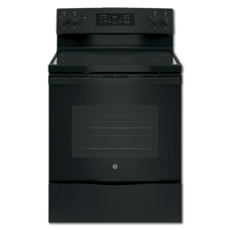 "Picture of GE® 30"" CERAMIC GLASS TOP ELECTRIC RANGE - BLACK"