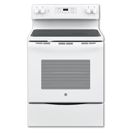 """Picture of GE® 30"""" CERAMIC GLASS TOP ELECTRIC RANGE - WHITE"""