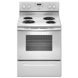 """Picture of WHIRLPOOL® 30"""" ELECTRIC RANGE - WHITE"""