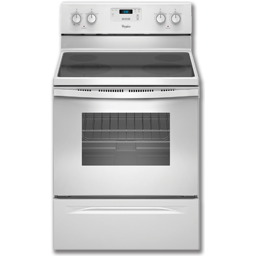 "Picture of WHIRLPOOL® 30"" CERAMIC-TOP RANGE - WHITE"