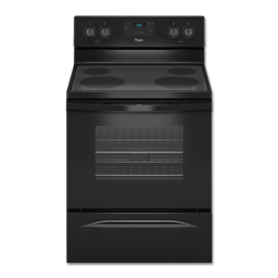 "Picture of WHIRLPOOL® 30"" CERAMIC-TOP RANGE - BLACK"