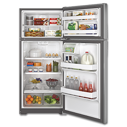 Picture of GE® ENERGY STAR 15.5 CU FT TOP-FREEZER REFRIGERATOR - STAINLESS STEEL
