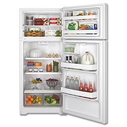 Picture of GE® ENERGY STAR 15.5 CU FT TOP-FREEZER REFRIGERATOR - WHITE