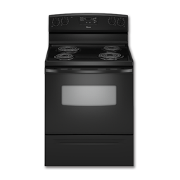 "Picture of AMANA® 30"" SELF-CLEAN ELECTRIC RANGE - BLACK"