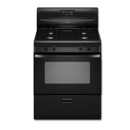 "Picture of AMANA® 30"" STANDARD GAS RANGE - BLACK"
