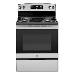 """Picture of GE® 30"""" SELF-CLEAN ELECTRIC RANGE - STAINLESS STEEL"""