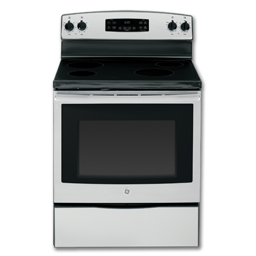 """Picture of GE® 30"""" CERAMIC GLASS TOP ELECTRIC RANGE - STAINLESS STEEL"""