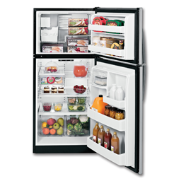 Picture of GE® ENERGY STAR® 17.5 CU FT REFRIGERATOR WITH ICE MAKER - STAINLESS STEEL