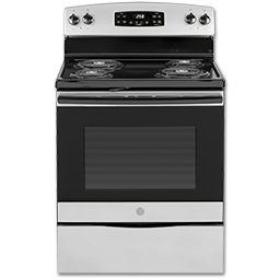 """Picture of GE® 30"""" SELF-CLEAN ELECTRIC RANGE - SILVER"""