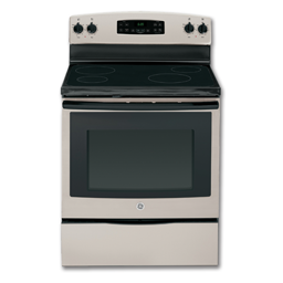 "Picture of GE® 30"" CERAMIC GLASS TOP ELECTRIC RANGE - SILVER"