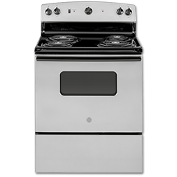 """Picture of GE® 30"""" ELECTRIC RANGE - SILVER"""