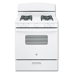 """Picture of GE® 30"""" GAS RANGE - WHITE"""