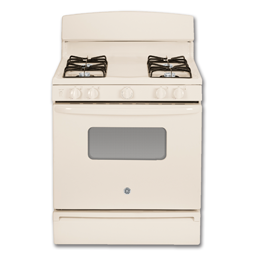 "Picture of GE® 30"" GAS RANGE - BISQUE"