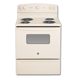 """Picture of GE® 30"""" ELECTRIC RANGE - BISQUE"""