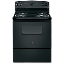 """Picture of GE® 30"""" ELECTRIC RANGE - BLACK"""