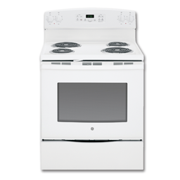 """Picture of GE® 30"""" SELF-CLEAN ELECTRIC RANGE - WHITE"""