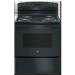 "Picture of GE® 30"" SELF-CLEAN ELECTRIC RANGE - BLACK"