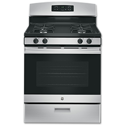 "Picture of GE® 30"" SELF-CLEAN GAS RANGE - STAINLESS STEEL"