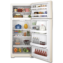 Picture of GE® ENERGY STAR® 17.5 CU FT REFRIGERATOR - BISQUE