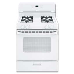 "Picture of HOTPOINT® 30"" GAS RANGE, ELECTRONIC IGNITION - WHITE"