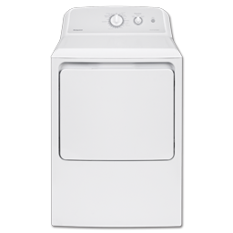 HOTPOINT® 6.2 CU FT EXTRA LARGE CAPACITY GAS DRYER - WHITE