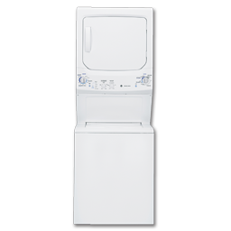 "Picture of GE® 27"" GAS SPACEMAKER WASHER/DRYER - WHITE"