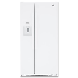 Picture of GE® 23.2 CU FT SIDE BY SIDE REFRIGERATOR - WHITE