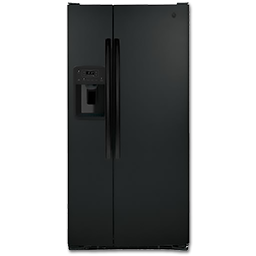 Picture of GE® 23.2 CU FT SIDE BY SIDE REFRIGERATOR - BLACK