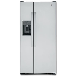 Picture of GE® 23.2 CU FT SIDE BY SIDE REFRIGERATOR STAINLESS STEEL