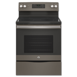 """Picture of GE® 30"""" FREE-STANDING ELECTRIC RANGE - SLATE"""
