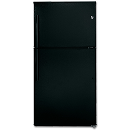 Picture of GE® ENERGY STAR® 21.1 CU FT TOP-FREEZER REFRIGERATOR - BLACK