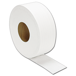 Picture of 2-PLY JUMBO ROLL TISSUE - WHITE, EMBOSSED - 12/CS