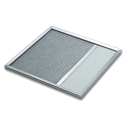 "Picture of 10"" X 11-7/8"" X 3/32"" ALUMINUM RANGE HOOD FILTER WITH LENS"