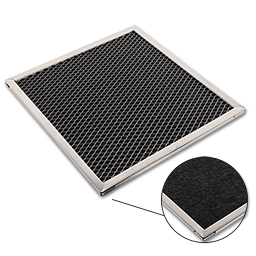 "Picture of 8-7/8"" X 9-3/8"" X 3/8"" CHARCOAL RANGE HOOD FILTER"