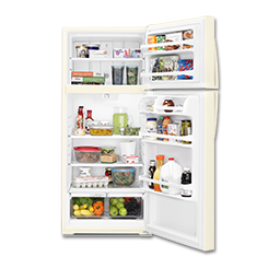 Picture of WHIRLPOOL® 16.0 CU FT TOP MOUNT REFRIGERATOR - BISQUE